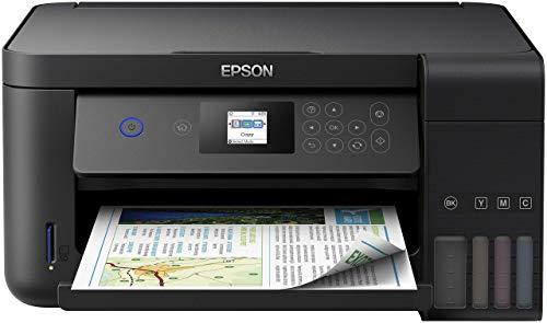 Epson EcoTank ET-2750 3-in-1 Tintenstrahl Multifunktionsgerät (Kopierer, Scanner, Drucker, DIN A4, Duplex, WiFi, Display, USB 2.0), großer Tintentank, hohe Reichweite, niedrige Seitenkosten