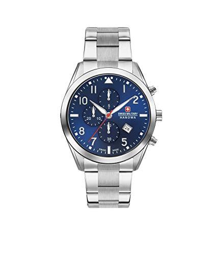Swiss Military Herren Chronograph Quarz Uhr mit Edelstahl Armband 06-5316.04.003