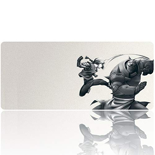 850972 - Fullmetal Alchemist Mouse Pad Anime Gaming Mouse Pads Desk Mouse Mat Large Size(35.4×15.7 in / 90x40cm) Keyboard Pad Mousepad for Work Gaming Office Home
