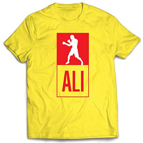 lepni.me Camisetas Hombre Equipo de Entrenamiento Combate De Boxeo Ropa de Ejercicio y Fitness (Small Amarillo Multicolor)