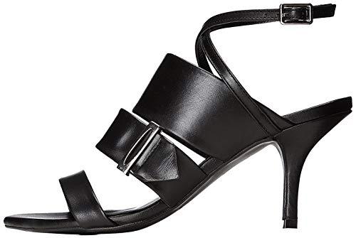 find. Sandalen Damen mit Pfennigabsatz und Knöchelriemchen, Schwarz (Black), 37 EU