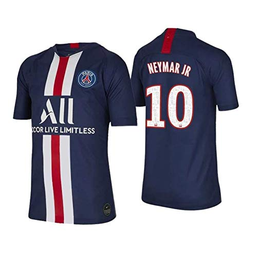 2020 Paris Saint Germain PSG Neymar Junior #10 Kids Soccer Home Jersey & Shorts Youth Sizes (L (for Age 10 12))