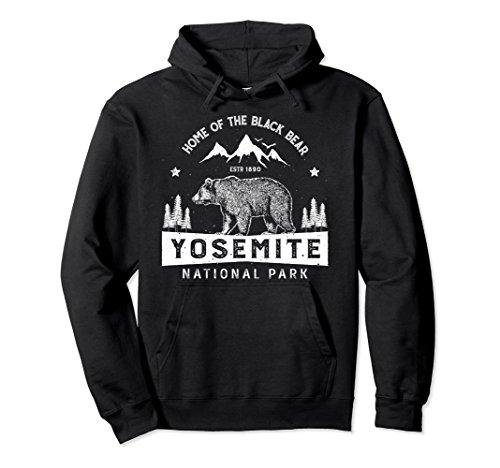 Yosemite Hoodie National Park California Bear Vintage Gifts