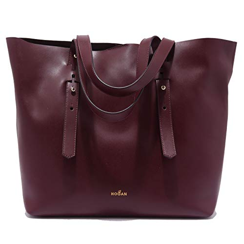 Hogan 9970AB shopping bag donna burgundy leather shopping bag women [ONE SIZE]