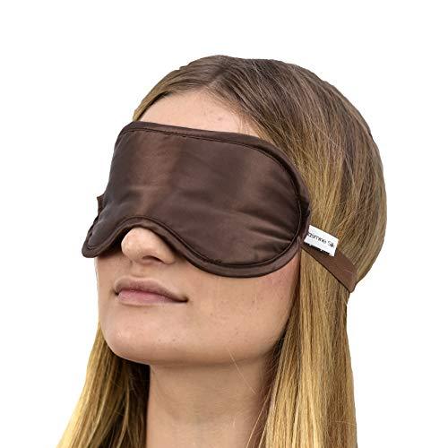 Jasmine Silk Luxus 100% Seide Schlafmaske Augenmaske Reisen Silk eye mask - Schokolade