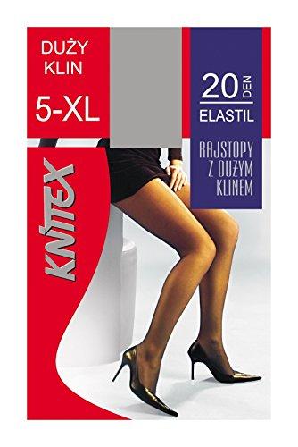 Klassische ELASTAN STRUMPFHOSE in braun von Knittex L-4