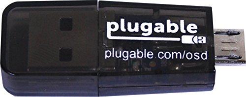 Plugable® USB MicroSD-kaartlezer voor mobiele telefoon, laptop en tablet computer (ingebouwde type A-USB- en Micro-B-OTG-interfaces)