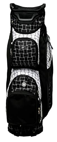 Glove It Ladies' Golf Bag - Lightweight, Nylon Cart Bag with 14 Dividers, Putter Well, Rain Hood & 9 Easy-Access Pockets, Black & White Basketweave