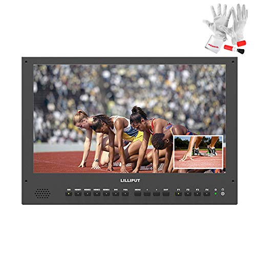 "LILLIPUT BM150-4KS 15.6"" 8bit 3840x2160 3G-SDI 4K Ultra-HD Resolution 3D LUTS and HDR 1000:1 Contrast Ratio Broadcast Director On-Camera Video Monitor"