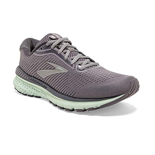 Brooks Womens Adrenaline GTS 20 Running Shoe - Shark/Pearl/Mint - B - 8.5