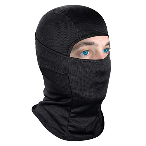 Achiou Balaclava Face Mask UV Protection for Men Women Sun Hood Tactical Lightweight Ski Motorcycle Running Riding Black