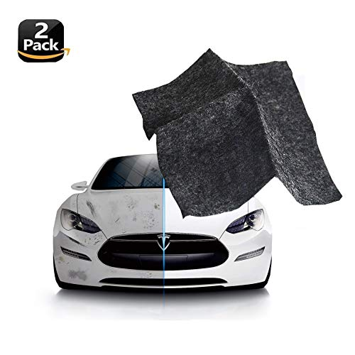 YuanMoon 2 Pack Multipurpose Scratch Remover Cloth - Nano Car Paint Scratch Scuffs Repair Cloth - Car Scratch Repair Kit for Repairing Light Paint Scratches Remover Scuffs on Surface