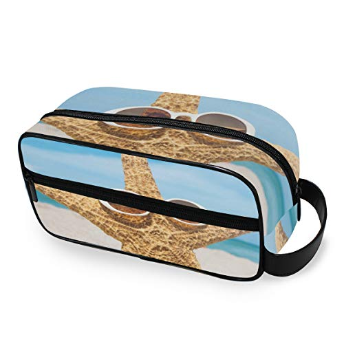 Voyage De Stockage Trousse De Toilette Portable Outils Cosmétique Train Case Bourse Starfish Beach Maquillage Sac