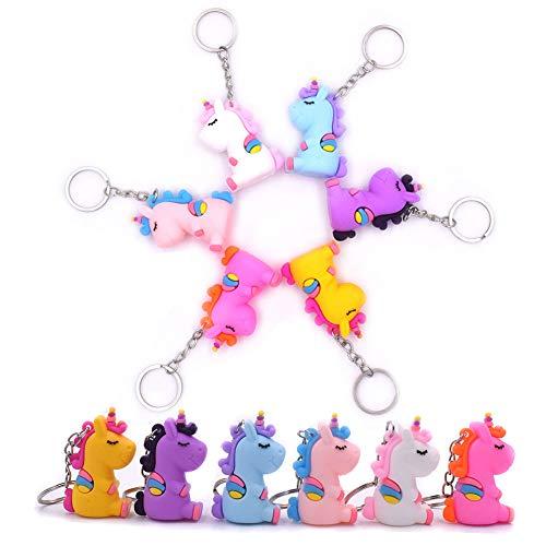 INTVN Unicornio Llavero (6 pcs) Unicornio Keyring para , Fiesta Unicornio, Artículos de Fiesta de cumpleaños Regalo para Niños niñas