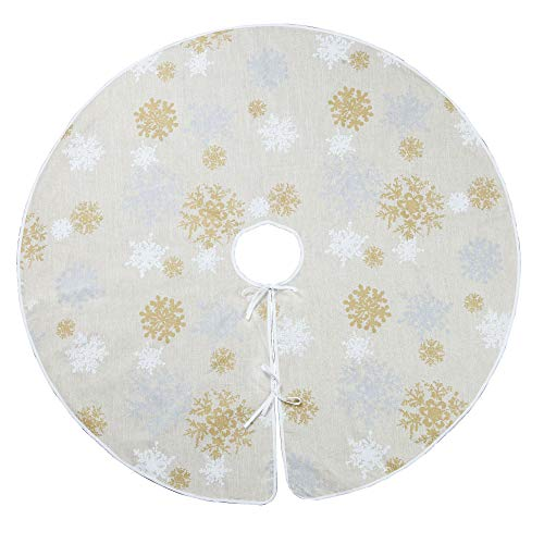 VGIA 60 inch Christmas Tree Skirt with Snowflake PatternChristmas Decoration