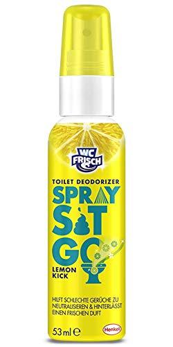 WC Frisch Spray Lemon gegen Toilettengerüche 1 x 53 ml, Geruchsneutralisierer für das WC & Badezimmer