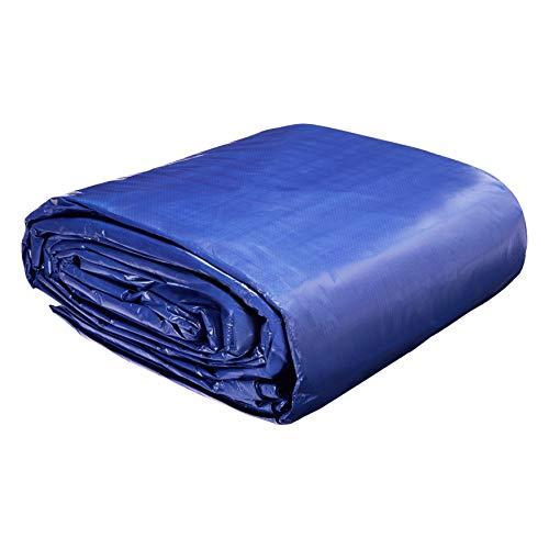 AmazonCommercial - Lona impermeable de poliéster multiusos, 9x12m, 0,127mm de espesor, azul, pack de 1unidad