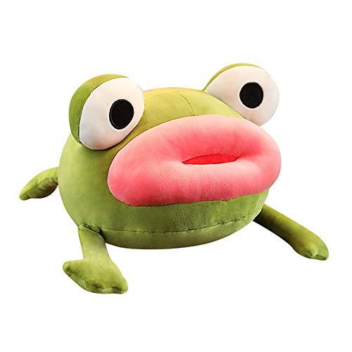 HJHJK Niedliche große rote Lippen Frosch Plüschtiere Kuscheltier Spielzeug Weiches Schlafsofa Kissen Spielzeug Mädchen Kinder Kinder Geschenkspielzeug (Size : 45cm)