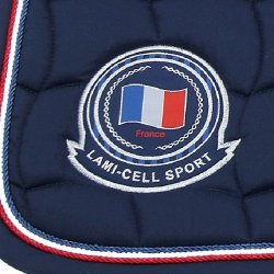 Lami-Cell Tapis French Flag - Couleurs - Blanc, Taille Equipement Cheval - Cheval