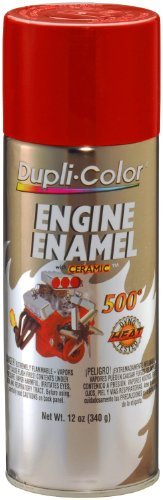 Dupli-Color DE1605-6 PK (EDE160507-6 PK) Ford Red Engine Enamel with Ceramic - 12 oz. Aerosol, (Case of 6)