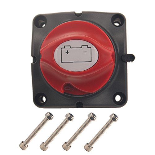 Dewhel Battery Switches Battery Disconnect Isolator Master Switch 12-50V Battery Power Cut On/Off Master Switch Disconnect Isolator for Marine Boat Car Vehicles RV