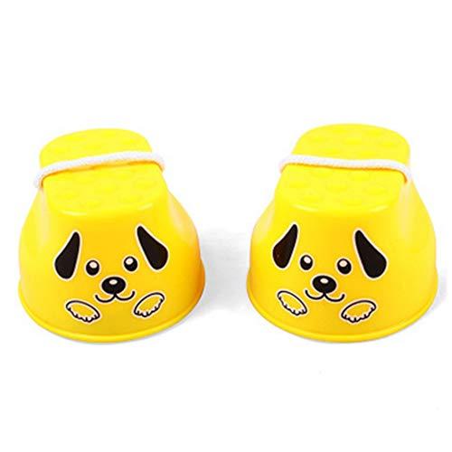 Gehen Stelzen Balance Sprungstelzen Steppers Spielzeug Feinmotorik F?rdern Für Kleinkind Kindergarten Und Vorschule Für Kinder (Yellow Dog)