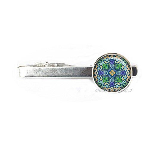 QUVLOTIAZJ Celtic Cross Tie Clip, Celtic Cross jewelry Celtic jewellery Celtic Tie Clip Celtic Cross Tie Clip religious Tie Clip silver cross jewelry,ot88 (A1)