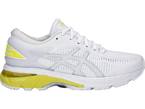Asics - Gel-Kayano 25 - Zapatillas de running para mujer., Blanco (Blanco/Lemon Spark), 36.5 EU