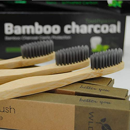 BambusEngel Bambus Zahnbürste weiche Borsten + aktivkohle whitening nano Zahnpasta   Zahnbürsten aus Holz mit Naturborsten   Plastikfrei nachhaltig zero waste bamboo toothbrush