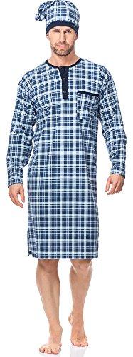 Cornette Herren Nachthemd mit Schlafmütze CR1102017 (Muster-581305, XL)