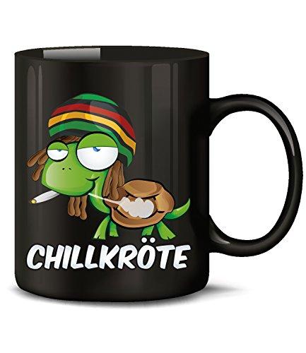 Golebros Chillkröte 5058 Tasse Becher Kaffeetasse Kaffeebecher mit Spruch Gras Cannabis Drogen Sprüche Geschenk Artikel Marihuana Drug Dope Kiffer