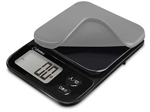 dretec(ドリテック) キッチンスケール はかり 料理 0.1g 3kg シリコンカバー付 1年保証 ブラック KS-817