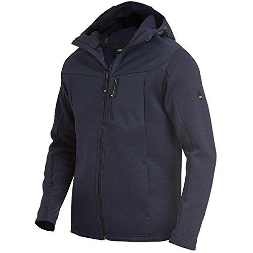 FHB 79900-16-M Hybrid-Softshell-Jacke Maximilian Größe M in marine blau, M