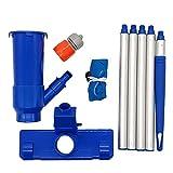 Limpiador de Piscina portátil, Piscina Vacuum Cleaner Herramienta de Limpieza de la Piscina Mini Jet Limpieza por succión portátil para la charca de la Piscina SPA Bañera de hidromasaje Azul