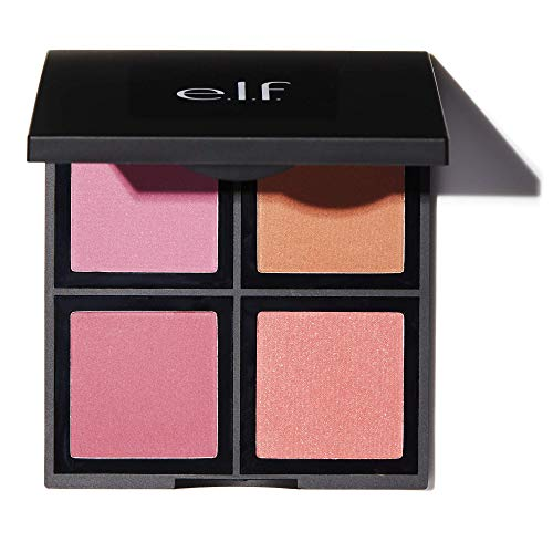 elf Cosmetics Powder Blush Palette Four Blush Shades for Beautiful LongLasting Pigment Light