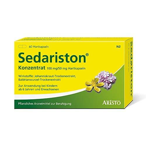 Sedariston® Konzentrat bei Unruhe, Stress, Anspannung, Schlafstörungen, pflanzliches Arzneimittel aus Johanniskraut + Baldrian, 60 Stk