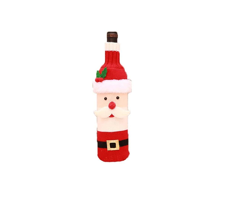 反映するもっと少なくスリンクFengheYQ クリスマス西シャンパンボトルは、クリスマスの装飾クリエイティブサンタクロースワインギフトバッグホテルレストランフェスティバルの配置を設定します (款式 : Old man)