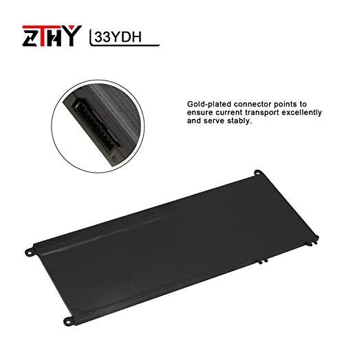 ZTHY 33YDH Laptop Battery for Dell Inspiron 15 7577 17 7000 7773 7778 7786 7779 2in1 G3 15 3579 G3 17 3779 G5 15 5587 G7 15 7588 Latitude 13 3380 14 3490 15 3590 3580 PVHT1 56Wh 4-Cell 15.2V 3500mAh