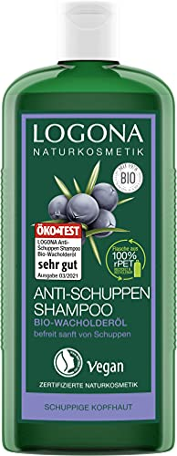 LOGONA Naturkosmetik Anti-Schuppen Shampoo Bio-Wacholderöl, Effektiv gegen Schuppen & Neubildung, Beruhigt gereizte & trockene Kopfhaut, Mit Bio-Pflanzenextrakten, Vegan,...