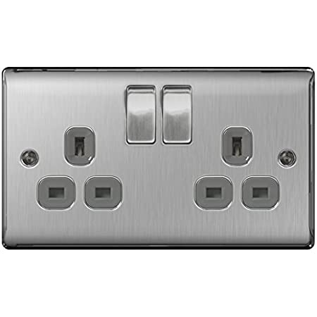 Newlec Single Light Switch White Slimline Moulded NLSL8320//s 1G 2W 20A BOX of 10