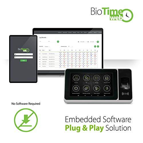 Zeiterfassungsgerät Fingerabdrücke+RFID Card -Plug&Play -ZPad Plus ZKTeco-Biometrisches WiFi Erfassungssystem-Check-in Rekorder -7