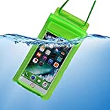 True Desire Three Layers Waterproof Sealed Transparent Mobile Bag Cover for Protection in rain & Swimming Fits for Any Android and iPhone Universal Size Mobile Phone(Green)