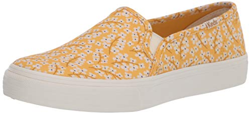 Keds womens Double Decker Floral Slip on Sneaker, Yellow, 9.5 US