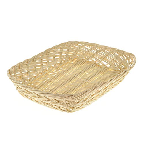 CRAFTY CAPERS 36cm Shallow Light Wicker Gift Basket or Hamper Tray