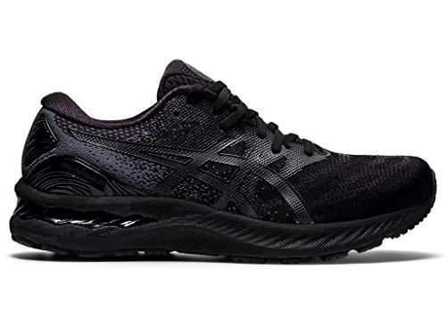 ASICS Men's Gel-Nimbus 23 Running Shoes, 8.5M, Black/Black