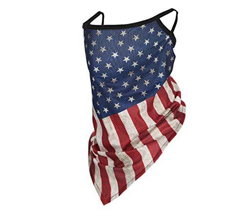 Alsino Mundschutz mit Motiv Ultimativ: 2 in 1 Mundschutz- und Halstuch Tuch - atmungsaktiv extra lang bedeckt Mund, Nase und Hals - Top Fester Sitz - (Amerikanische Flagge)