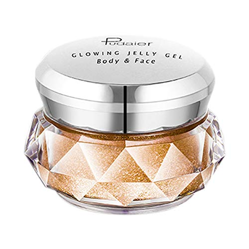 Price comparison product image Jonerytime8 Colors Jelly Gel Highlighter Make Up Concealer Shimmer Face Glow Eyeshadow Highlighter Cream (D)
