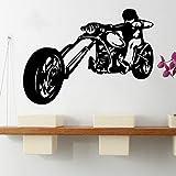ganlanshu Etiqueta engomada Fresca de la Pared del Vinilo de la Motocicleta para la decoración del Dormitorio de la habitación de los niños Etiqueta de Arte de la Pared 42cmx57cm