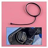 FSLLOVE FANGSHUILIN Noir NBR Voiture Carburant gaz de Remplissage Bouchon de réservoir de Bande Cordon Tether Anneau 16117222391 for BMW Série 1 3 5 7 Série X1 X3 X4 X5 X6 Z4 Mini