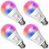 meross Lampadina Wifi Intelligente LED 9W 810LM Dimmerabile Multicolore E27 A19 Smart Ligh...